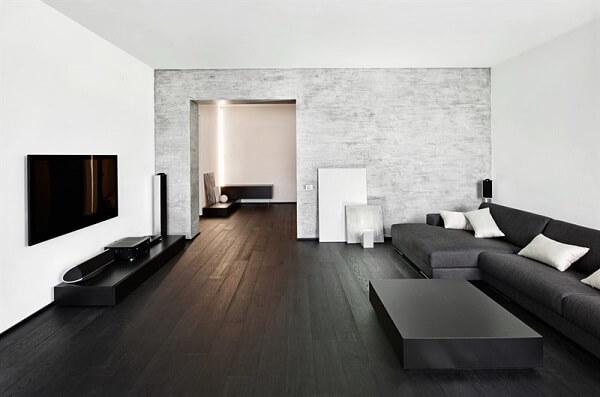 חיפוי בטון בסלון